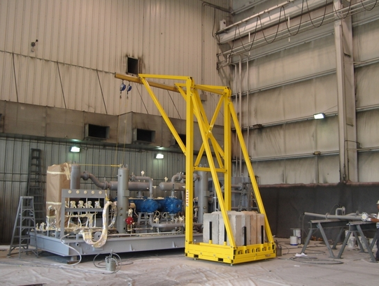 Counter-Weighted Rigid Rail Fall Arrest System