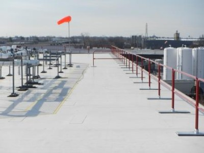 Portable Guardrail for Rooftop Fall Protection
