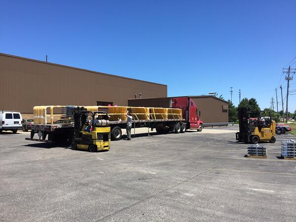 Portable Guardrail In Truck Load Quantities