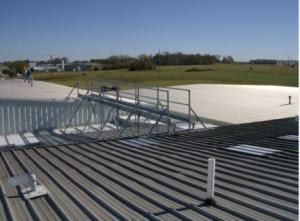 Unistrut Rooftop Walkway