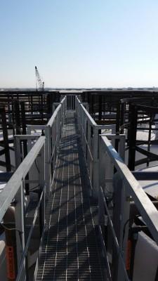 bulk loading area access walkway