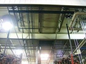 rigid rail overhead fall protection system