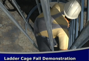fall protection ladder cage