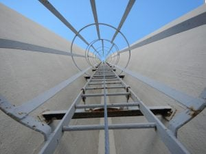 ladder cage with vertical lifeline system