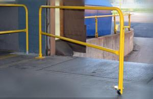 loading dock safety railing