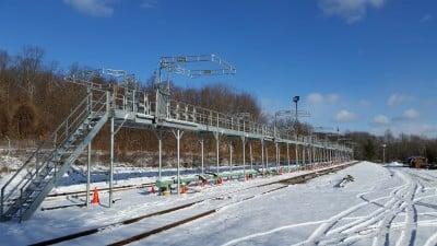 multiple railcar loading rack