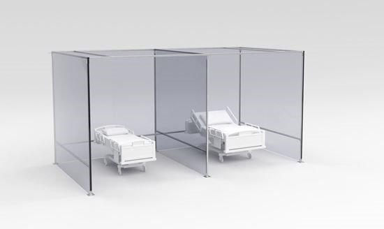 portable hospital partition system
