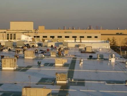 rooftop guardrail installation