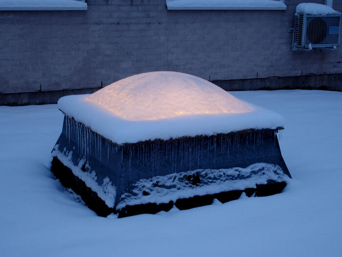 skylight obstructed by snow